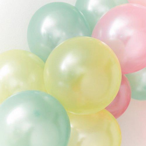 16 Palloncini Rainbow colori pastello