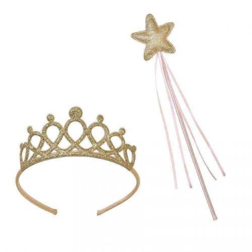 Corona + Bacchetta principessa Oro rosa