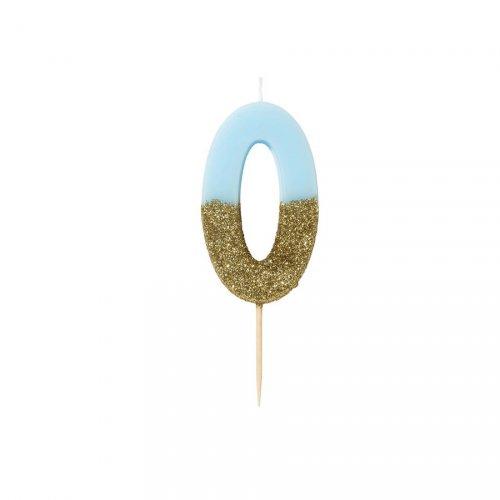 Candela Blu Oro Numero 0