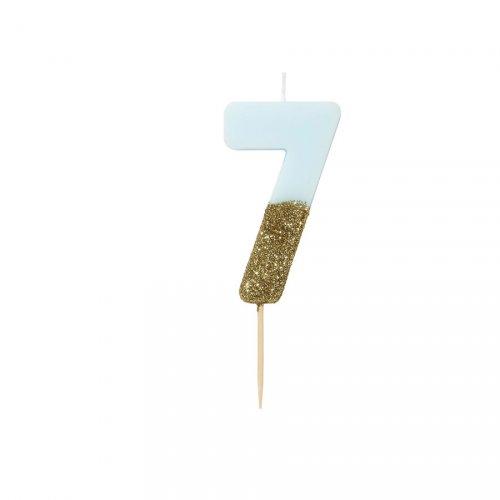Candela Blu Oro Numero 7