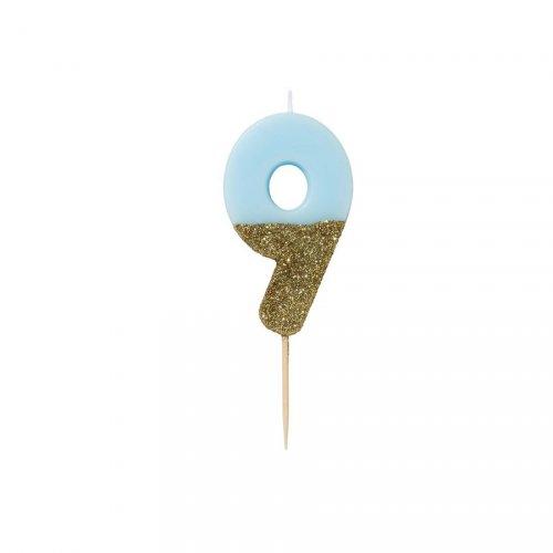 Candela Blu Oro Numero 9