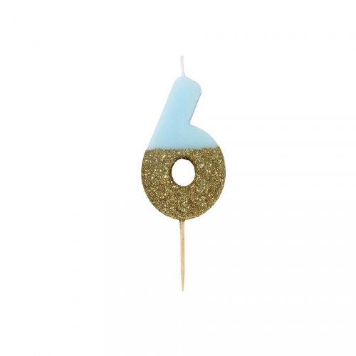 Candela Blu Oro Numero 6