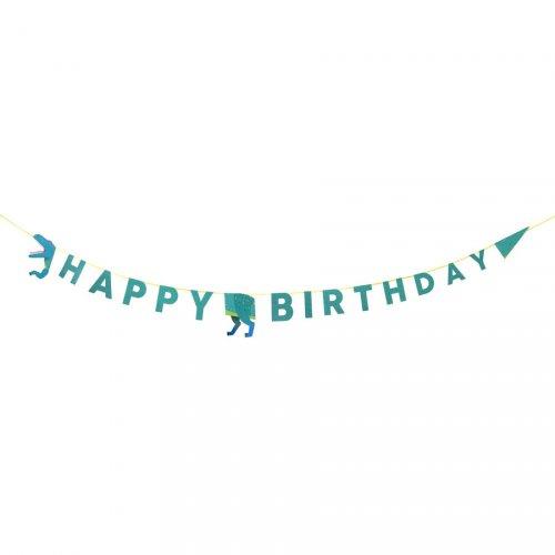 Maxi ghirlanda Happy Birthday  Dino (3,5 m)