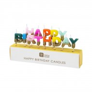 Mini Candele  Happy Birthday Arcobaleno Glitter (6 cm)
