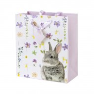 1 Sacco regalo grande Coniglio fiori (26,5 cm)