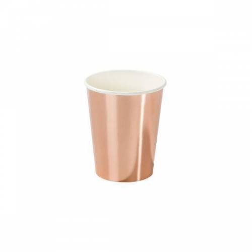 8 Bicchieri Rosa Gold