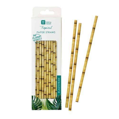 30 Cannucce Bambù - Biodegradabili