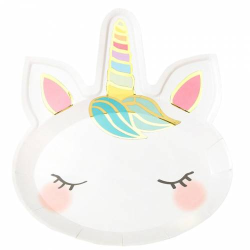 8 Piatti Unicorno Pastello