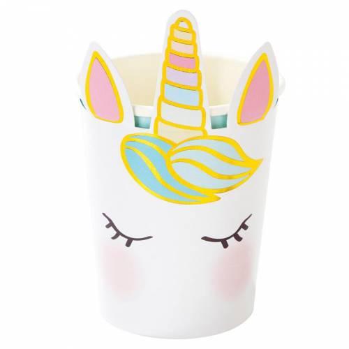 8 Bicchieri Unicorno Pastello