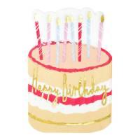 Contiene : 1 x 12 Tovaglioli - Torta di Compleanno