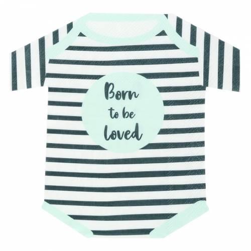 16 Tovaglioli - Hey Baby Blu