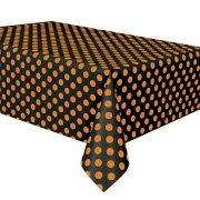 Tovaglia a pois neri/arancione