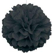 Sfera di carta a fiori nera