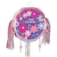 Pull Pinata dispiegabile Happy Birthday Flower
