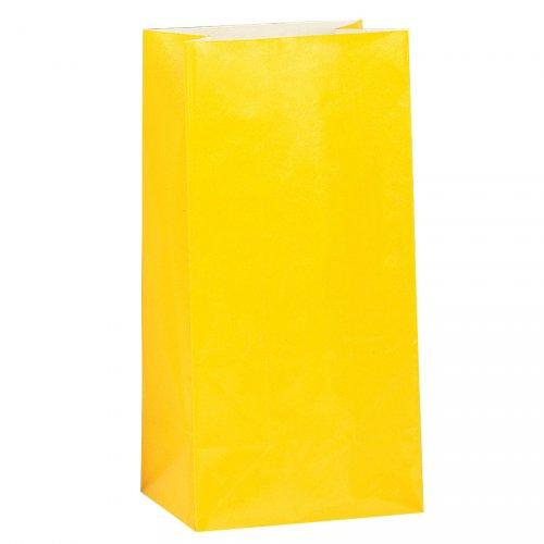 12 sacchetti di carta Giallo