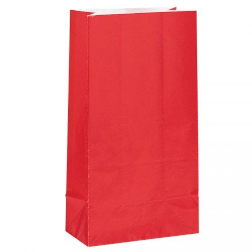 12 sacchetti di carta Rosso