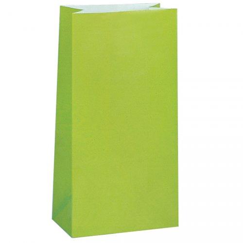 12 sacchetti di carta Verde