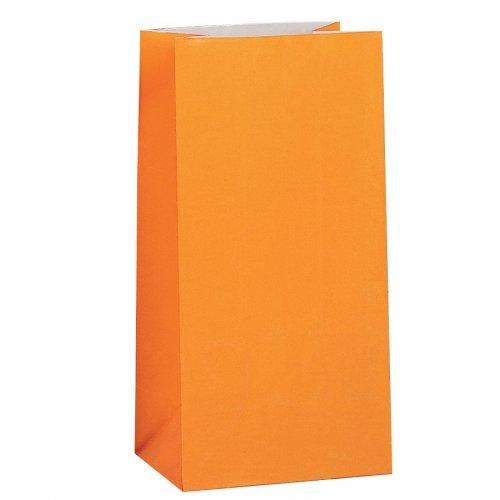 12 sacchetti di carta Arancione