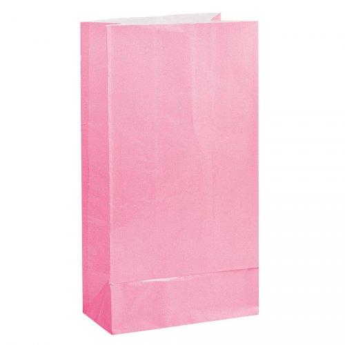 12 sacchetti di carta Rosa pastello