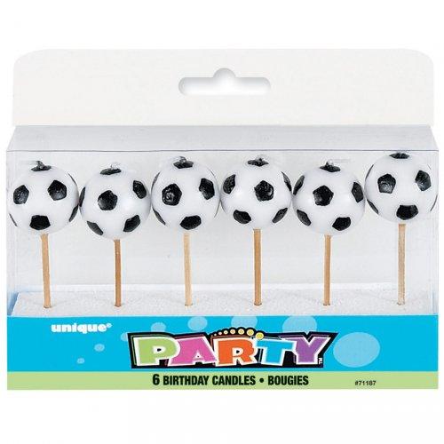 6 Candele con punta pallone da calcio