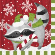 16 Tovaglioli Animali Natale
