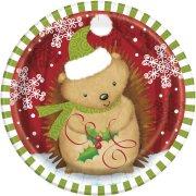 8 Piccoli Piatti Animali Natale