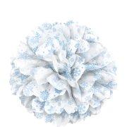Sfera di carta con fiocchi di neve