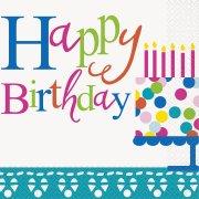 16 Tovaglioli Happy Birthday Coriandoli