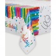 Tovaglia Happy Birthday Rainbow