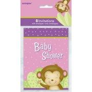8 Inviti Baby Shower Uistitì Girl