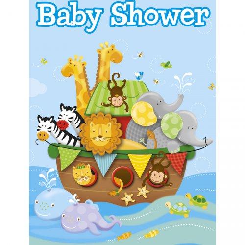 8 Inviti Baby Shower L Arca di Noè