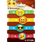4 Emoji Smiley braccialetti in silicone Emoji Smiley