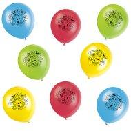 8 Palloncini Emoticon Smile multicolori
