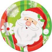 8 Piattini Babbo Natale