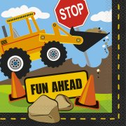 16 Tovaglioli Construction Party (Tema Edile)