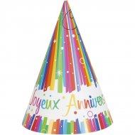 8 Cappelli Buon compleanno Rainbow