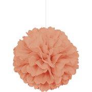 Sfera di carta Frou frou corallo (40 cm)