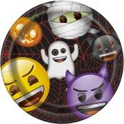 8 Piatti Emoji Halloween