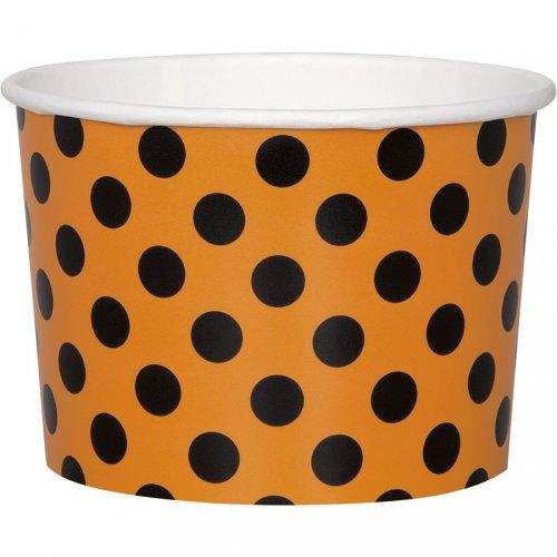 8 vasetti a pois Arancione/Nero (8,5 cm)