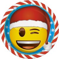 Contiene : 1 x 8 Piatti Emoji Xmas