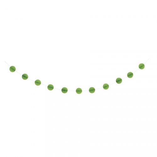 Ghirlanda sfere 3D verde