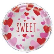 Palloncino piatto Cuore Sweet