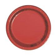 8 Piattini Rosso Metallo