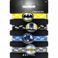 4 braccialetti CC Batman - Silicone