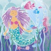 16 Tovaglioli Principessa Sirena