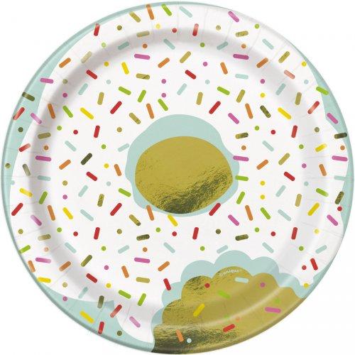 8 Piattini Donut Birthday