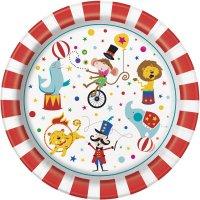 Contiene : 1 x 8 Piatti Happy Circus