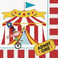 Contiene : 1 x 16 Tovaglioli Happy Circus