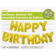 Ghirlanda Palloncino Happy Birthday Gold