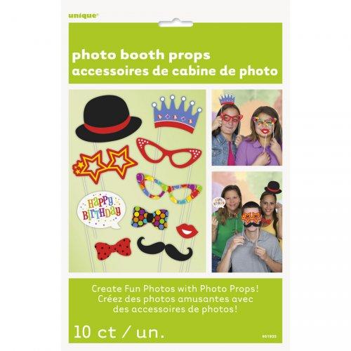 Kit 10 Cornice Photo Booth Happy Birthday